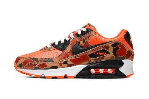 """Air Max 90 """"Duck Camo"""" Reworked in """"Total Orange"""" Colorway"""