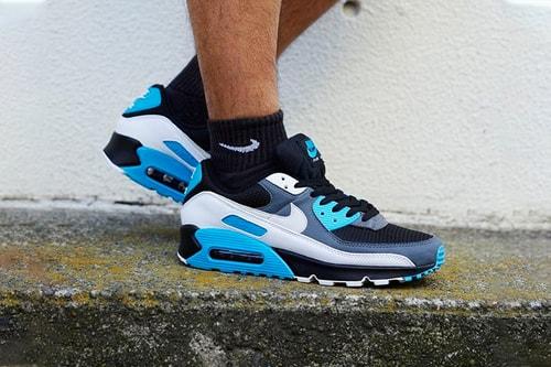 "Nike Air Max 90 Releases in Striking ""Reverse Laser Blue"" Colorway"