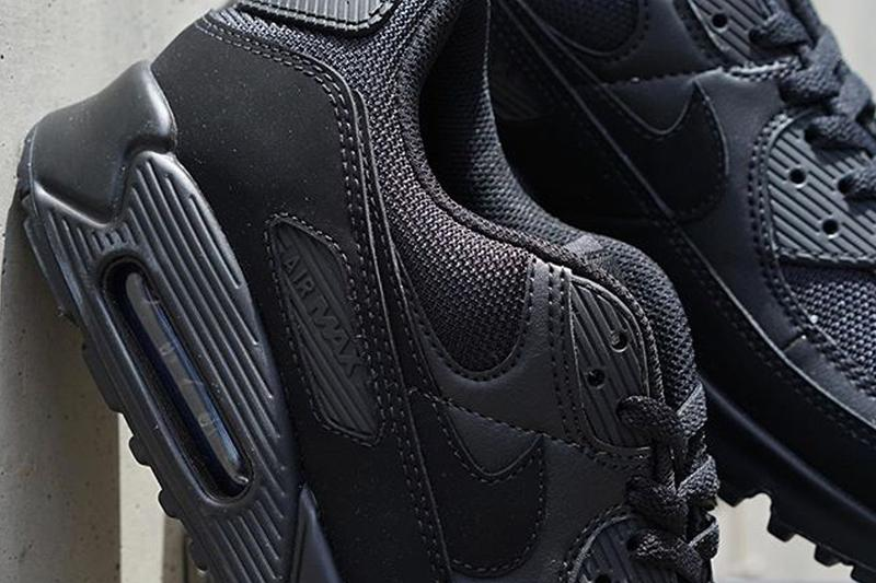 Nike Air Max 90 Triple Black cn8490 003 menswear streetwear spring summer 2020 collection footwear swoosh trainers runners shoes ss20