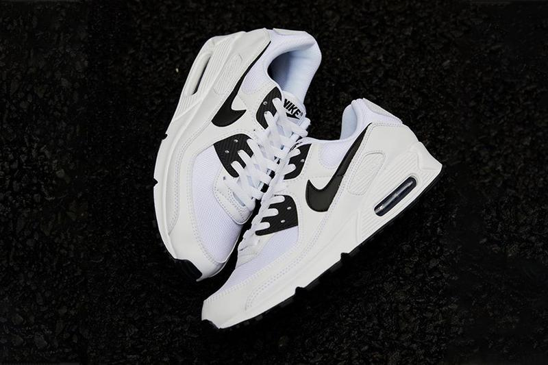 Nike Air Max 90 White Black menswear streetwear spring summer 2020 collection sneakers shoes footwear kicks trainers runners ct1028 103