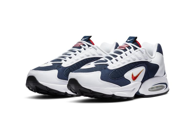 nike sportswear air max triax 96 usa olympic midnight navy white metallic gold university red CT1763 400 michael johnson official relase date info photos price store list buying guide