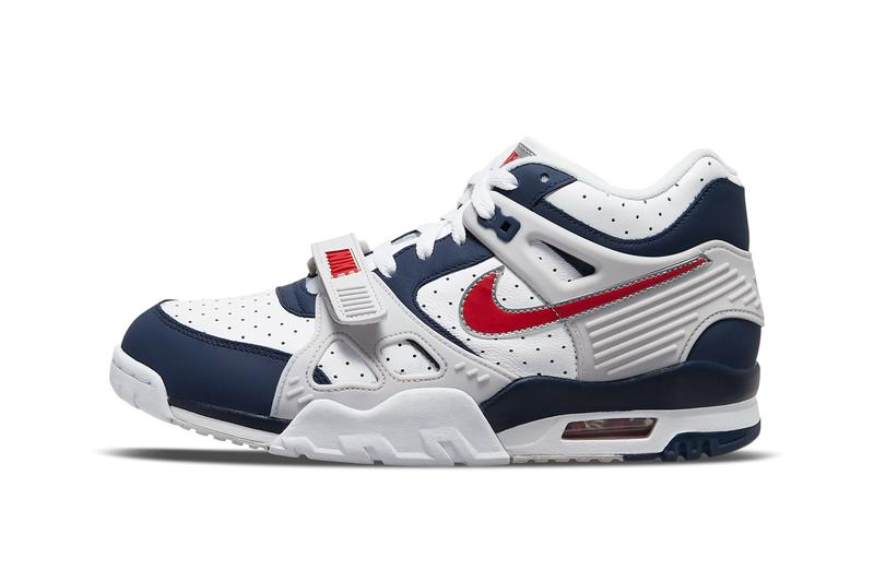 nike sportswear air trainer 3 bo jackson midnight navy vast grey white university red cn0923 400 official release date info photos price store list