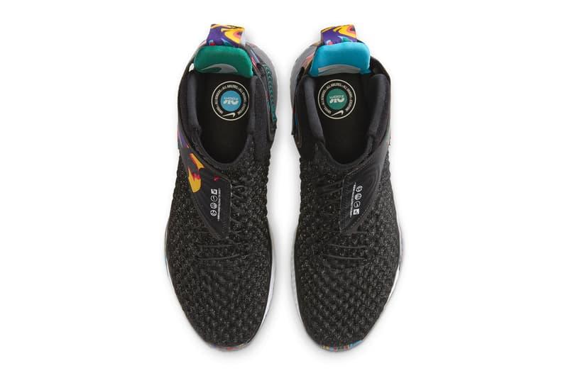 Nike Air Zoom UNVRS FlyEase Black Karantz Blue White menswear streetwear spring summer 2020 collection basketball shoes runners trainers sneakers footwear swoosh check