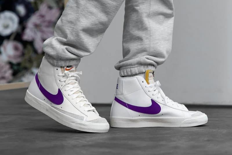 empieza la acción Realista Meyella  Nike Blazer Low & Mid '77 Vintage Voltage Purple | HYPEBEAST