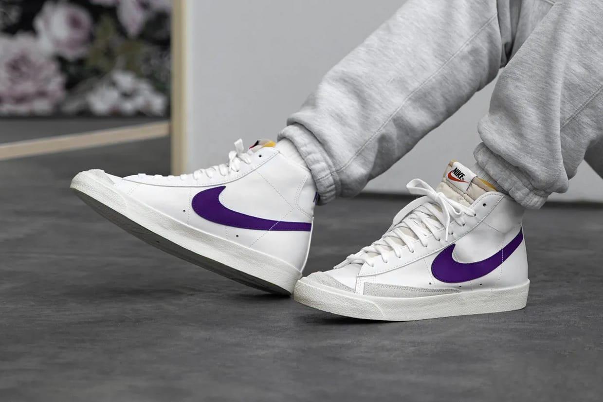 nike blazer low purple
