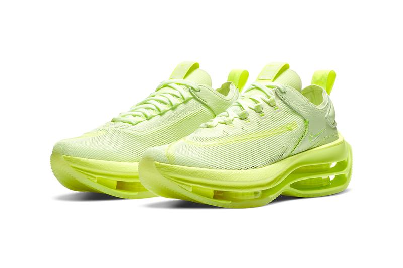 Nike Double Stacked Barely Volt menswear streetwear lime colorway sneakers shoes footwear labels spring summer 2020 collection runners trainers kicks