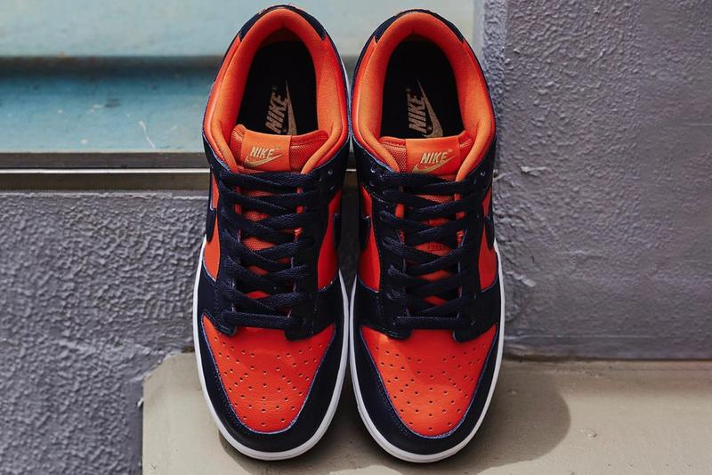 nike sportswear dunk low sp champ colors team tones pack orange navy blue white CU1727 800 official release date info photos price store list