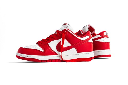 """The Nike Dunk Low SP """"University Red"""" Is Now Available for Raffle"""