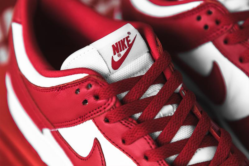 Nike Dunk Low SP University Red Closer Look Release Info cu1727-100 White Buy Price