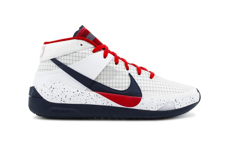Nike KD 13 Home Team Release Info CI9948-101 white sport red obsidian nba kevin durant national basketball association brooklyn nets dream team