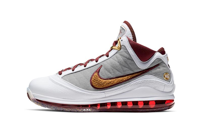 nike basketball lebron james 7 mvp white bronze team red wolf grey CZ8915 100 official release date info photos price store list