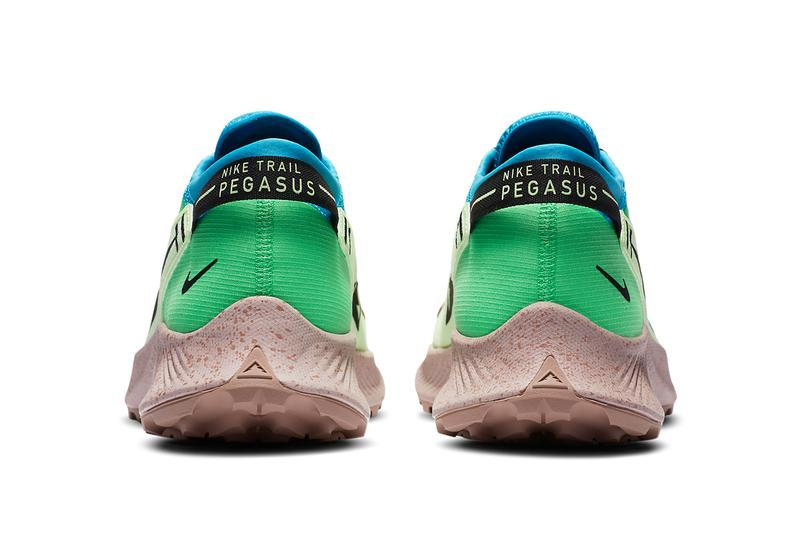 nike running pegasus trail 2 barely volt laser blue poison green black brown CK4305 700 official release date info photos price store list