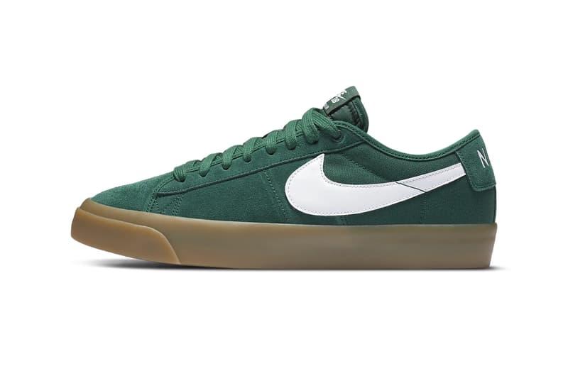 Nike SB Zoom Blazer Low Pro GT Fir Gum Light Brown Release DC0603-300 skate shoe