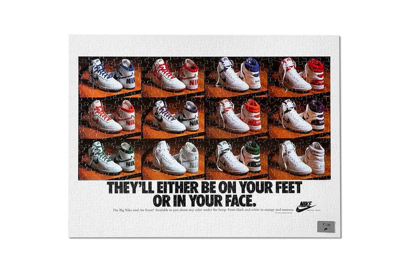 Nike Vintage Ad Puzzle Pack Release Info Buy Price 1977 Waffles Make Footwear News 1986 Be True To Your School On Your Feet Or in Your Face