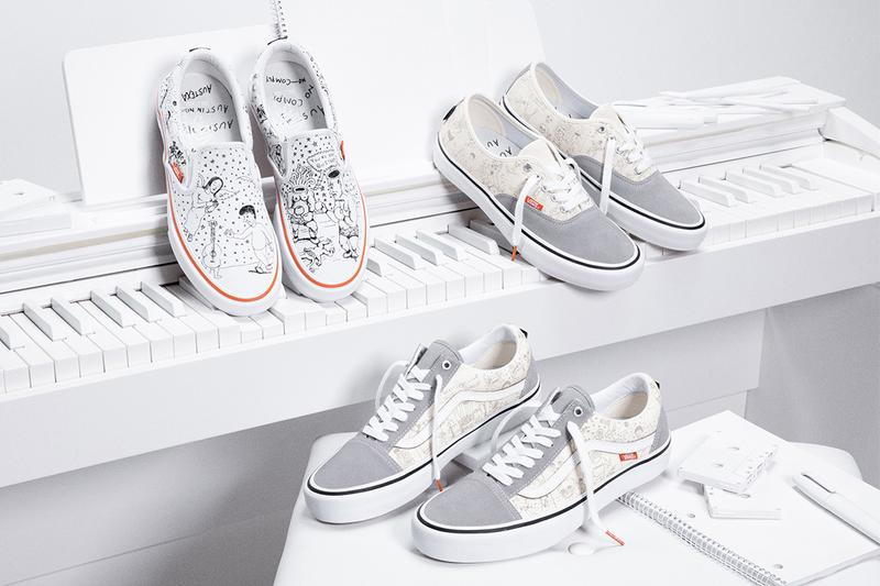 no comply skateshop vans daniel johnston collection capsule 2020 old skool authentic slip on official release date info photos price store list