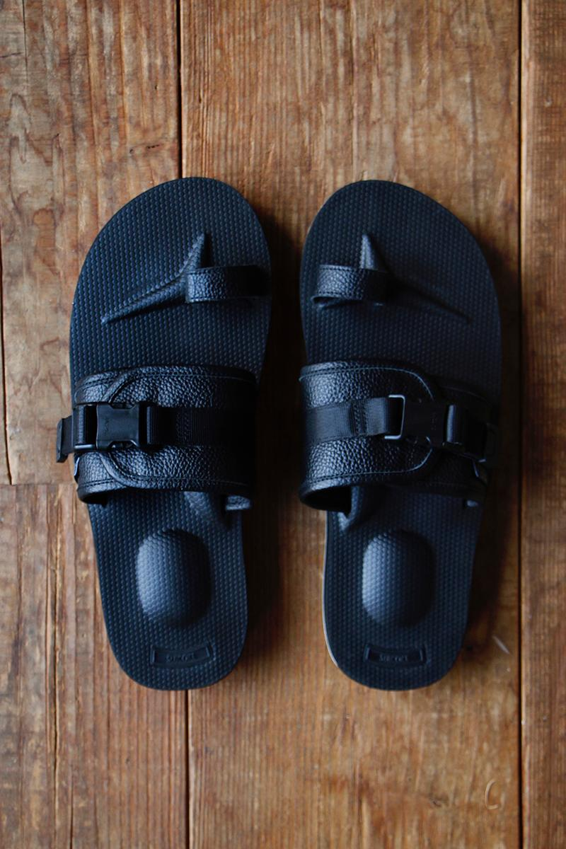 nonnative x Suicoke Hunter & Mariner Sandal Collaboration Footwear Collection Release Information Vibram Sole Unit Black Leather Coverchord
