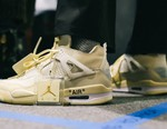 """Virgil Abloh Is Auctioning a Signed Pair of the Off-White™ x AJ4 """"Sail"""" for Charity"""