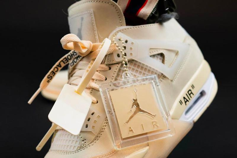 Off White Air Jordan 4 Sail Closer Look CV9388-100 Info Buy Price Date Release Virgil Abloh Muslin White Black WMNS womens