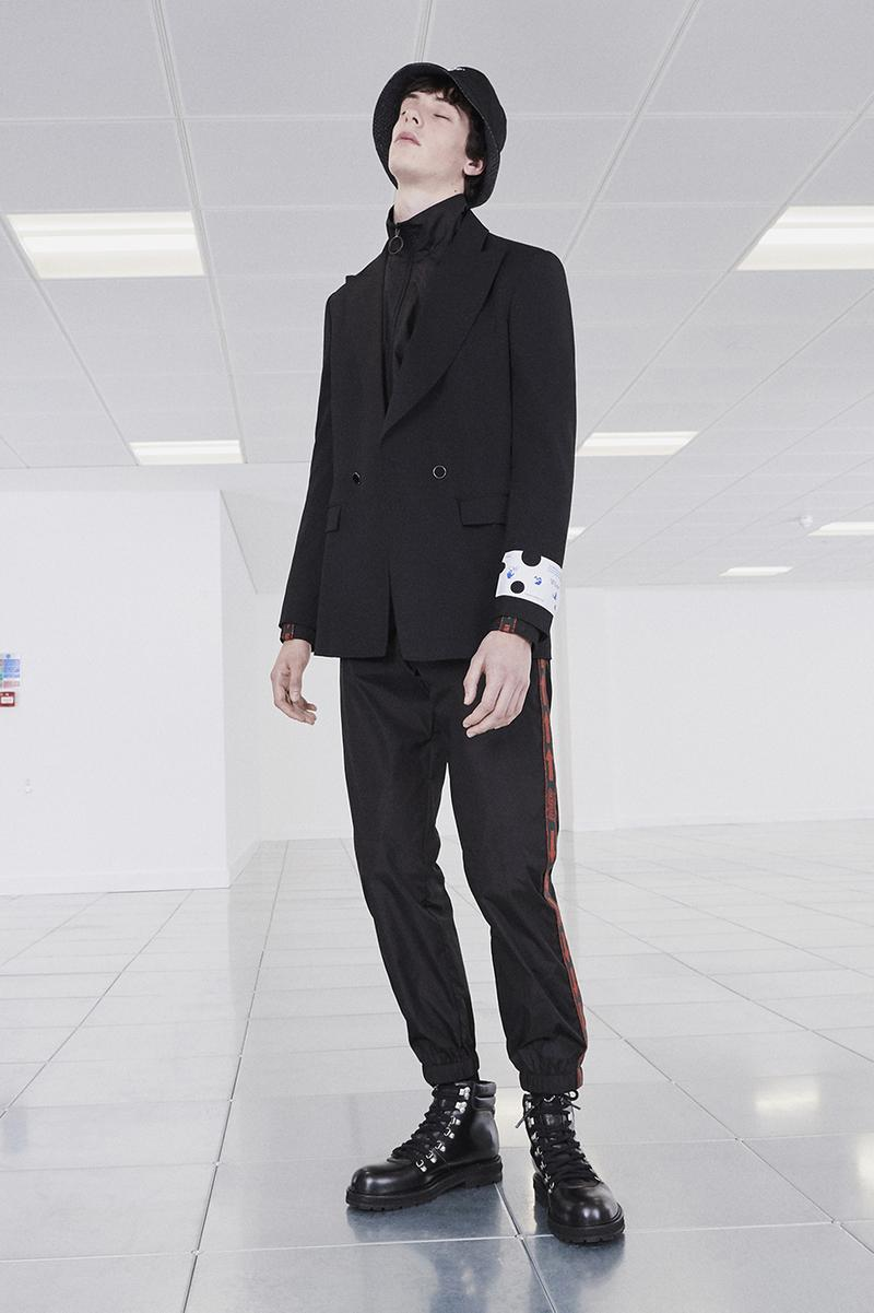 "Off-White™ Fall/Winter 2020 ""TORNADO WARNING"" Collection Officially Released Now Available Dropped Lookbook Virgil Abloh FW20 Menswear Tailoring Streetwear Formal Air Jordan 4 ""Sail"" OW"
