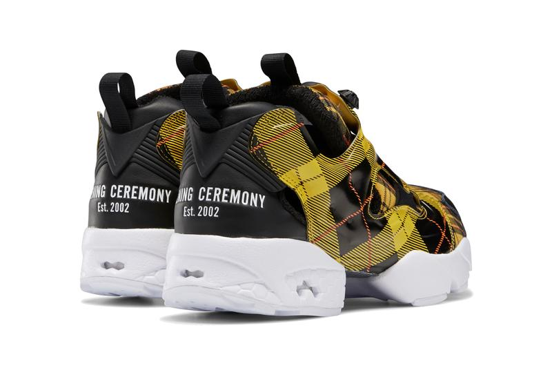 opening ceremony reebok instapump fury plaid black yellow red green white pantone pink navy FW2474 FW2475 official release date info photos price store list