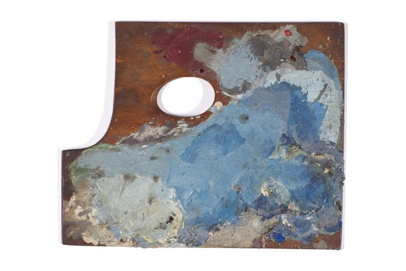 "Pablo Picasso Paint Palettes at Sotheby's Auction $70,000 USD Paintings Cubism Sotheby's London Auction ""The World of Picasso"""