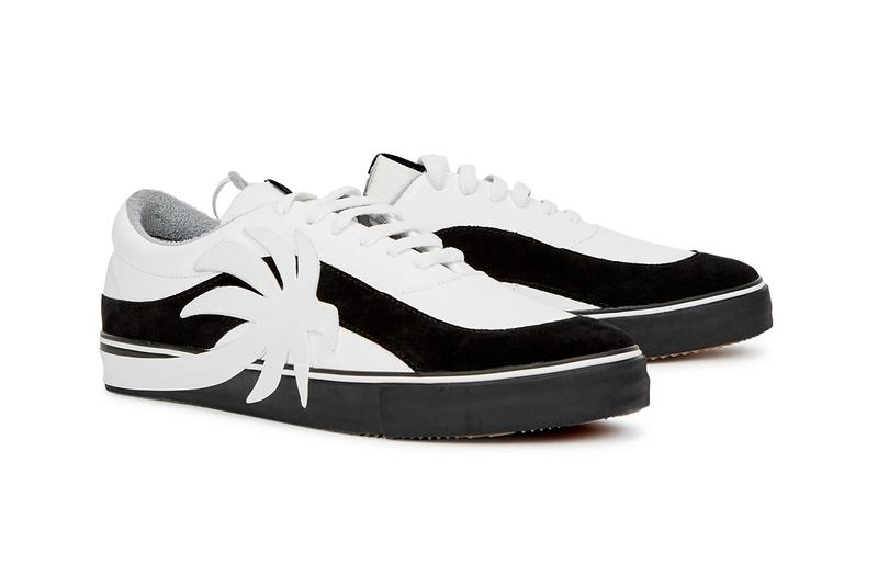 palm angels printed vulcanized sneakers shoes white black silver grey official release date info photos price store list buying guide