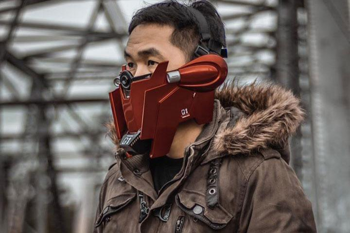 Poot Padee Gundam Inspired Face Masks Cosplay gundam bandai props art design anime Japan Thailand DIY LED TEchinal Masks face masks