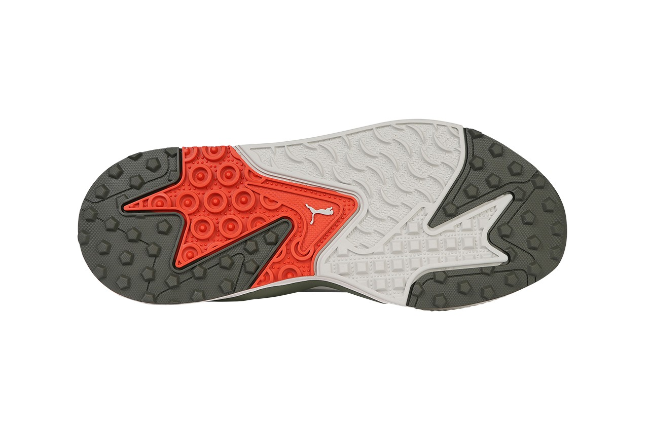 puma golf rs-g sneaker footwear trainer release information buy cop purchase details White/Quiet Shade/Quarry black dark pureed pumpkin vaporous thyme
