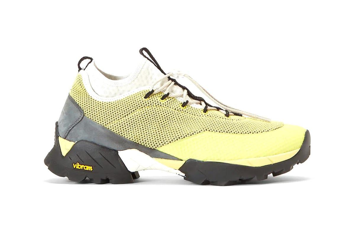 ROA Daiquiri Mid Sneakers in Yellow