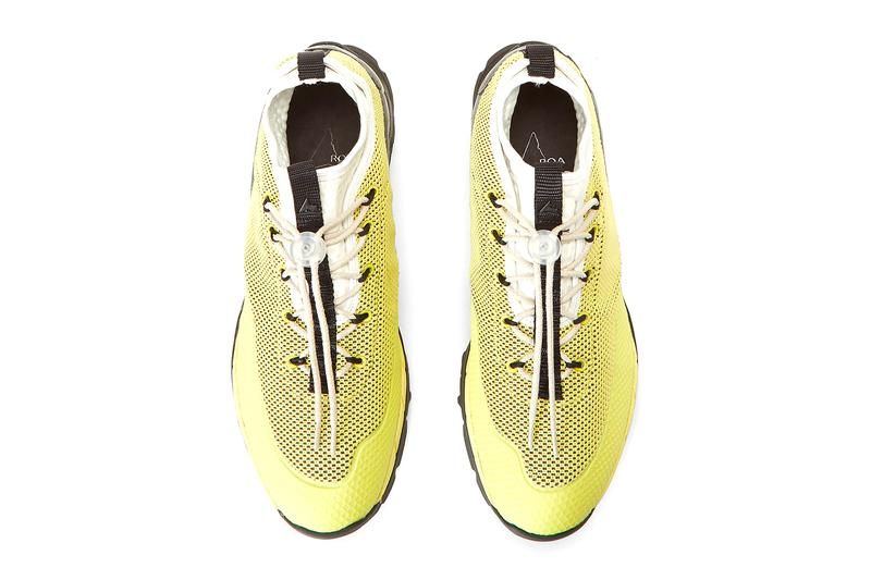 ROA Daiquiri Mid Sneakers in Yellow Release footwear vibram sneakers kicks hiking Italian made in italy Lhakpa