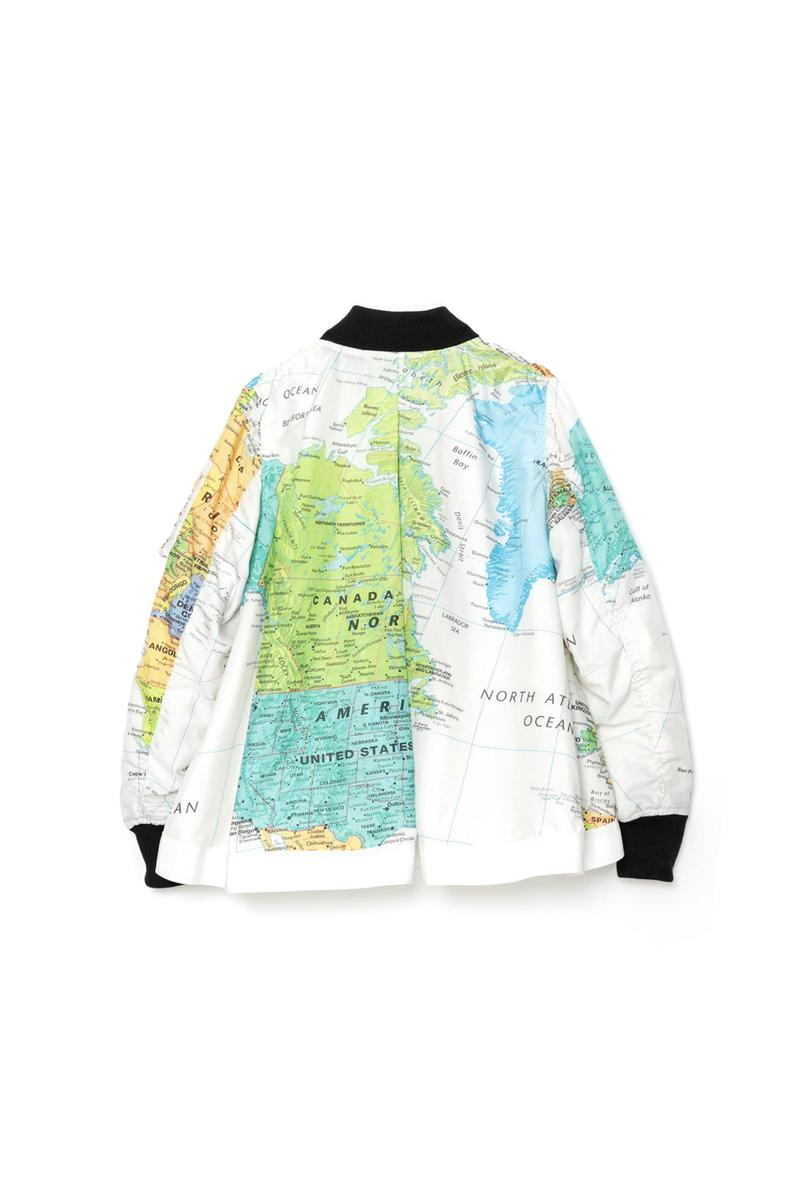 sacai Spring Summer 2020 THE Capsule menswear streetwear collection graphics color monochrome world map