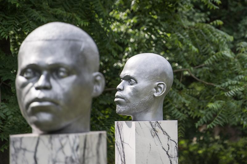 Windrush Generation Commemorative Sculptures 2021 London Britain Windrush Day Colonialism