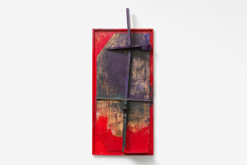 "Sterling Ruby Solo Exhibition Xavier Hufkens ""A RELIEF LASHED + A STILL POSE""  Wood Assemblages New Brussel Gallery Three-Dimensional Constructions Paint"