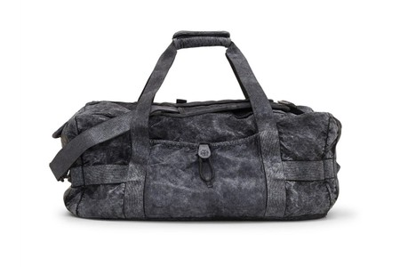 Stone Island Crafts Nylon Duffle Bag With Deep Black Garment Dye