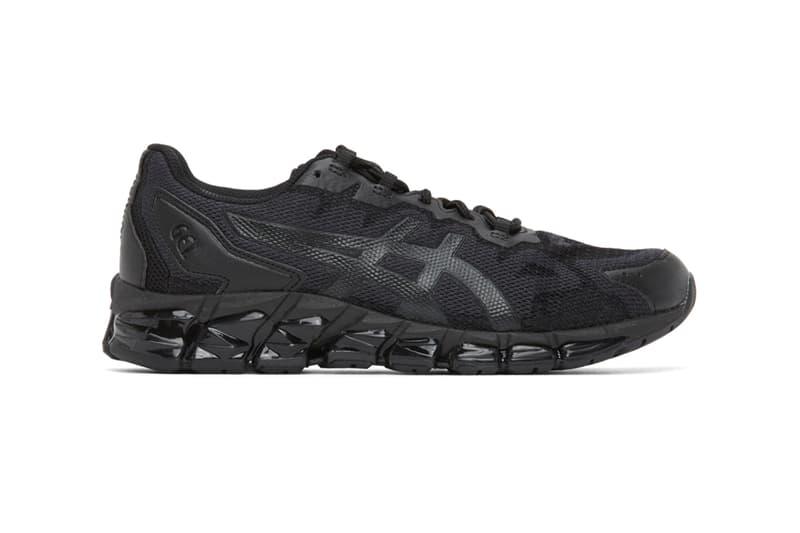 Asics Black GEL-Quantum 360 6 Sneakers Release  shoes footwear black monochrome kicks sneakers trainers running japan Japanese footwear Gel