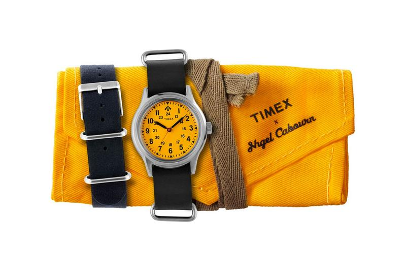 nigel cabourn timex survival watch raf inspired royal air force world war two vintage ventile fabric