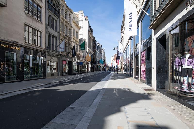 U.K. Stores Selfridges Harrods Supreme Palace Dover Street Market Opening Hours Reopening