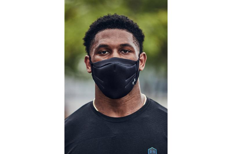 Under Armour New Sportsmask for Athletes Three-Layer Black PROTX2 Ear loops COVID-19 Coronavirus Reusable Water-resistant Training