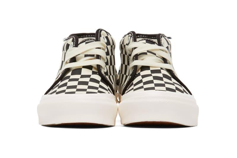 Vans Black White Check OG Sid Chukka lx Sneakers Release 202739M237011 202739M236007 ssense