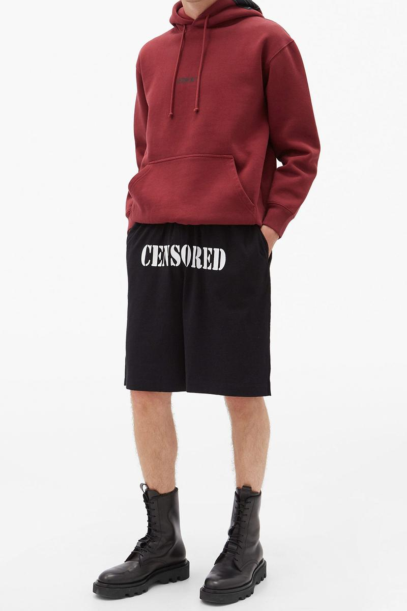 VETEMENTS Censored-Print Cotton-Jersey Shorts Release Info matchesfashion details AW20 FW20 collection