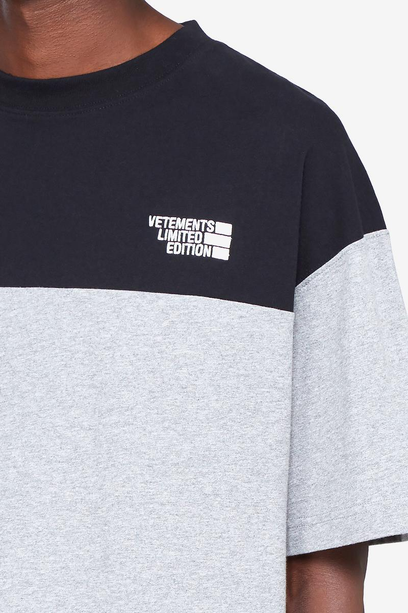 Vetements Contrast-Panel Logo T-Shirt Release Grey The North Face