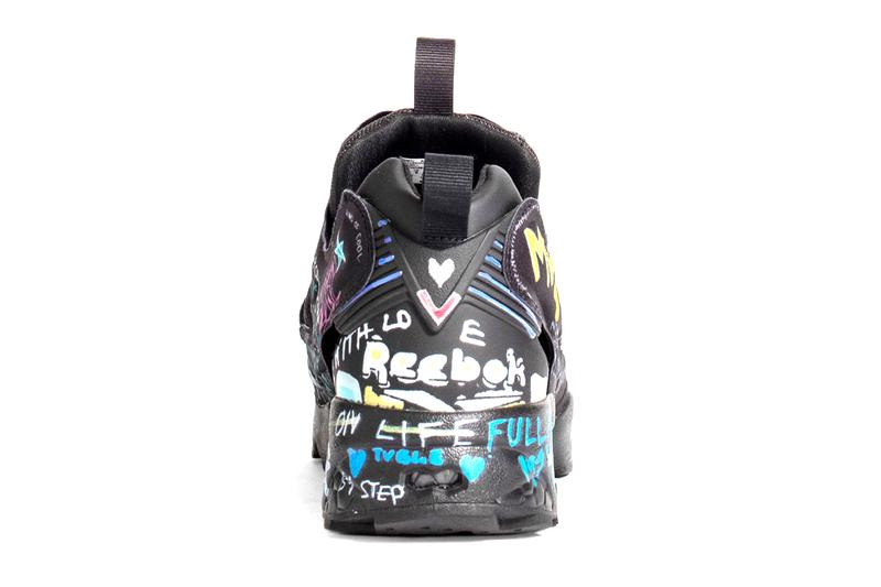 vetements reebok instapump fury fw20 fall winter 2020 graffiti black yellow blue white pink green official release date info photos price store list buying guide pre order