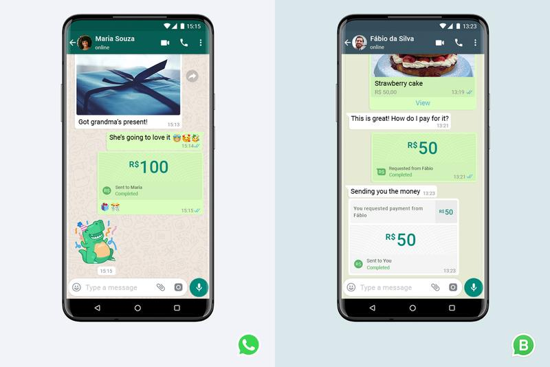 whatsapp launches payments transfers brazil cielo bank banco de brasil