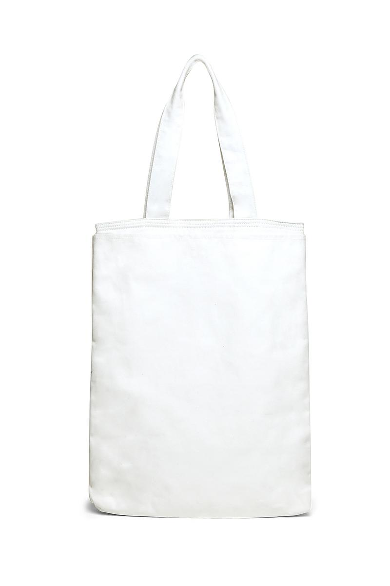 Y-3 Graphic Tote Bag in White Pre-Order September 2020 Shipping Release Information Closer Look Totes Bags LN-CC Designer Carrying Option Shoulder Laptop Large adidas The Brand With the Three Stripes