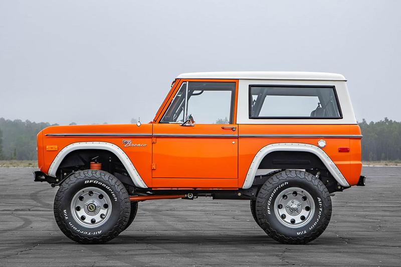 1974 Ford Bronco For Sale Auction SUV Classic Car 4x4 Velocity 5.0 Liter Coyote Crate Engine Wilwood Custom Orange Body Kit Custom Built Vintage $300,000 USD