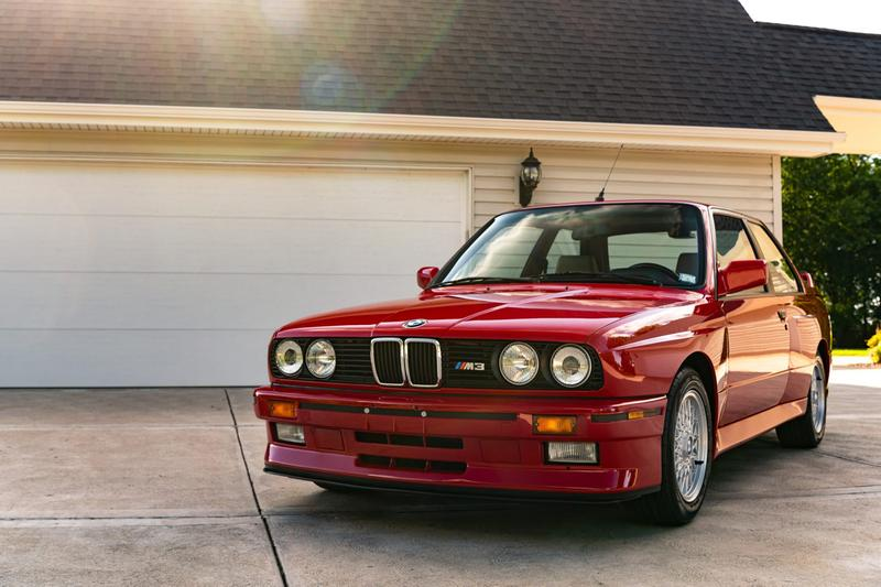 1988 BMW M3 E30 Sells for $250k USD Classic Germany Sportscar Pristine Condition 8000 Miles Car Auctions Automotives Paul Walker Red Zinnoberrot