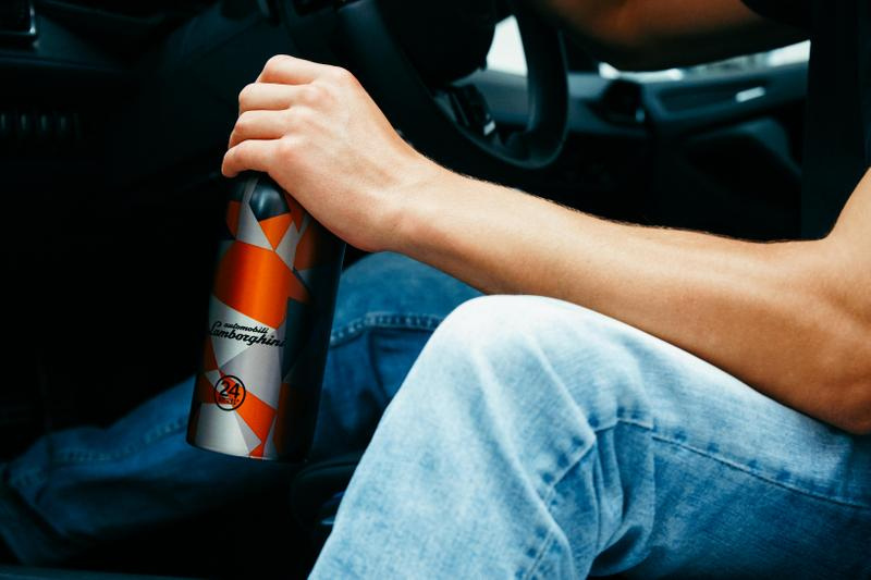 24Bottles Automobili Lamborghini Collaboration Clima Bottle sports car hydration italian sustainability ethical