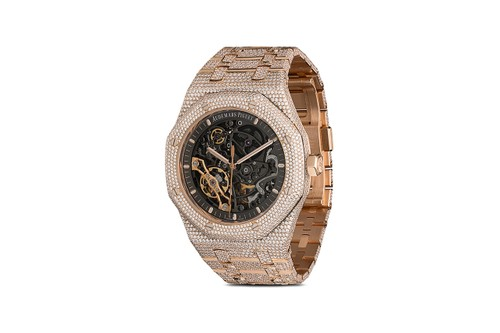 777 Drops Rose Gold, Diamond-Encrusted Audemars Piguet Royal Oak Skeleton