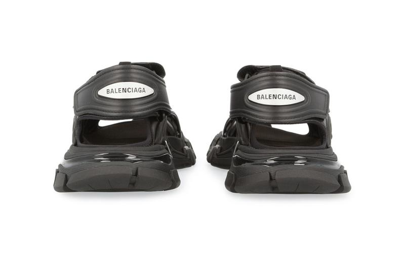 Balenciaga Track Sandal in Matte Black footwear kicks shoes sandals triple s track sneakers