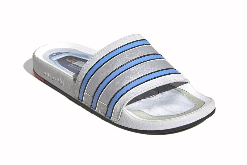 adidas Originals Adilette Premium Slides Micropacer-Inspired Release FX4410 Info Buy Price silver